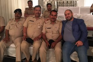 Naum Koen Наум Коэн Наум Коен with Indian Police
