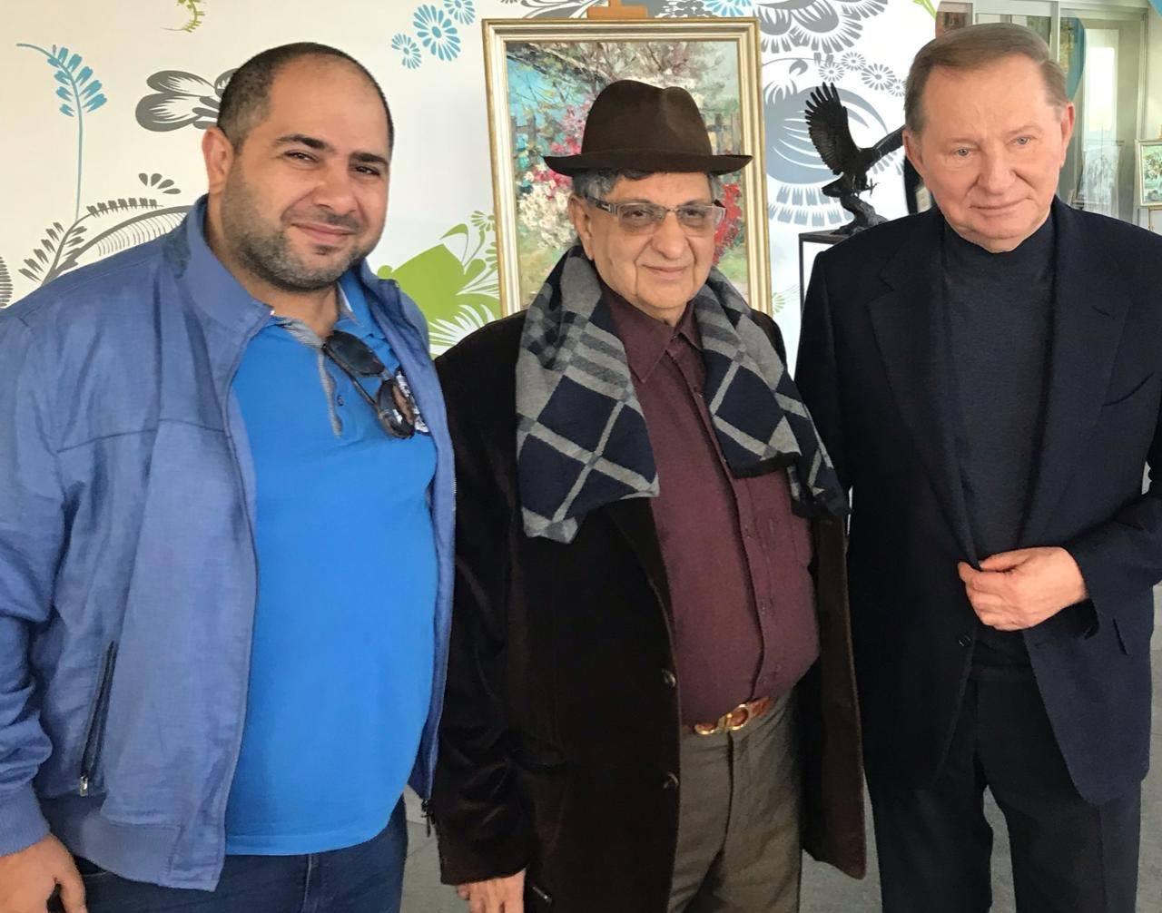 Naum Koen Наум Коэн Наум Коен with Cyrus S. Poonawalla & Leonid Kuchma in Ukraine